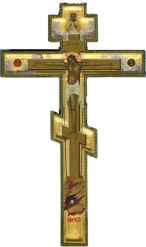 Распятие Господа Иисуса Христа (крест Христов) размер 32х19 см, московская школа
