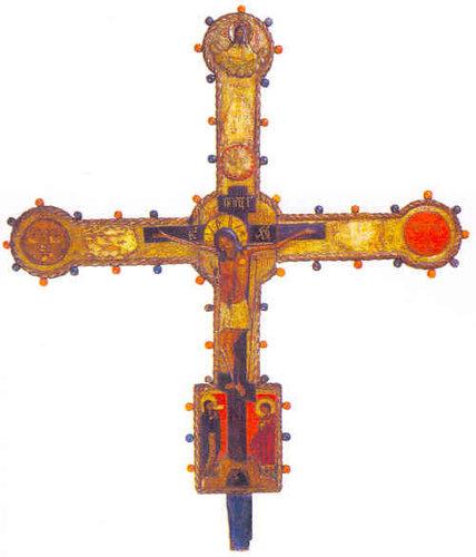 Крест выносной. Лицевая сторона Конец XVII века. Галич