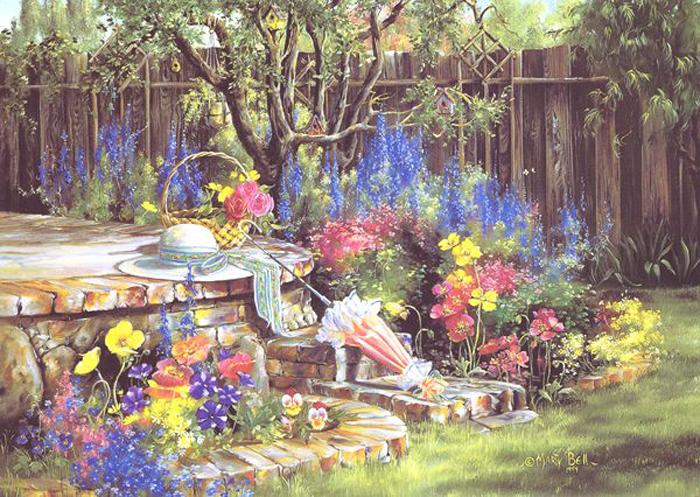 Американская художница Marty Bell.  Наверное одна из самых ярких и позитивных художников прошлого...