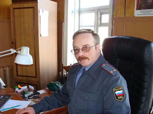 Начальник ОВД по Максатихинскому району А.В.Шаблонин