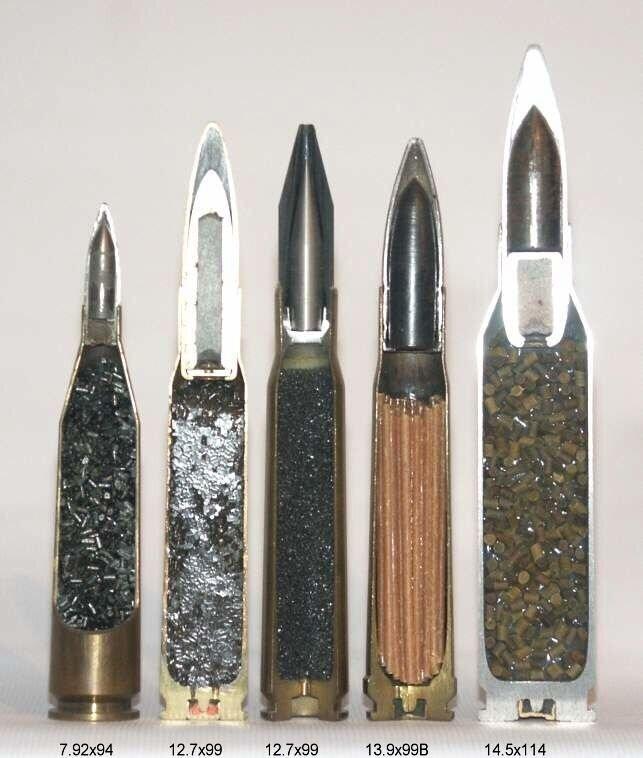 Формы частиц пороха для разных патронов