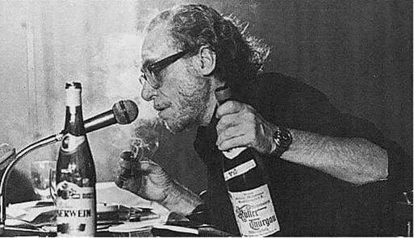 Чарльз Буковски на чтениях в Нью-Йорке