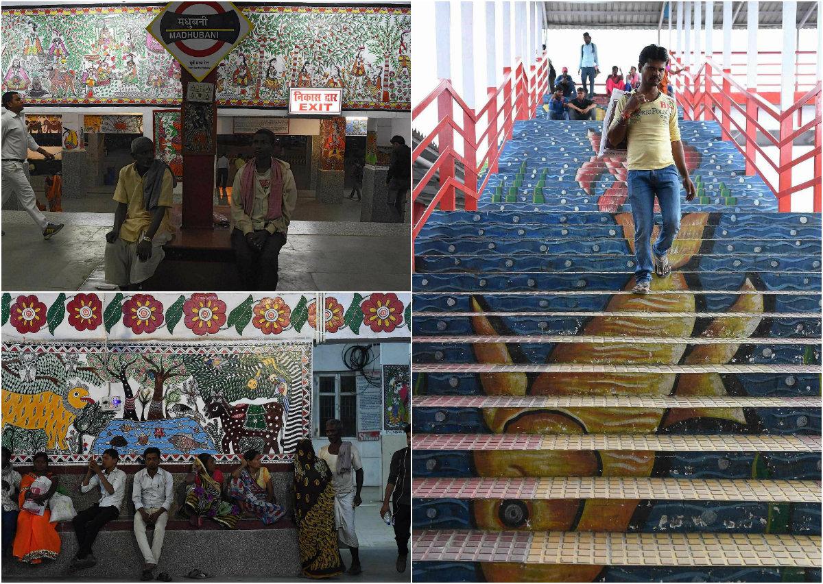Художники преобразили самую грязную ж/д станцию в Индии