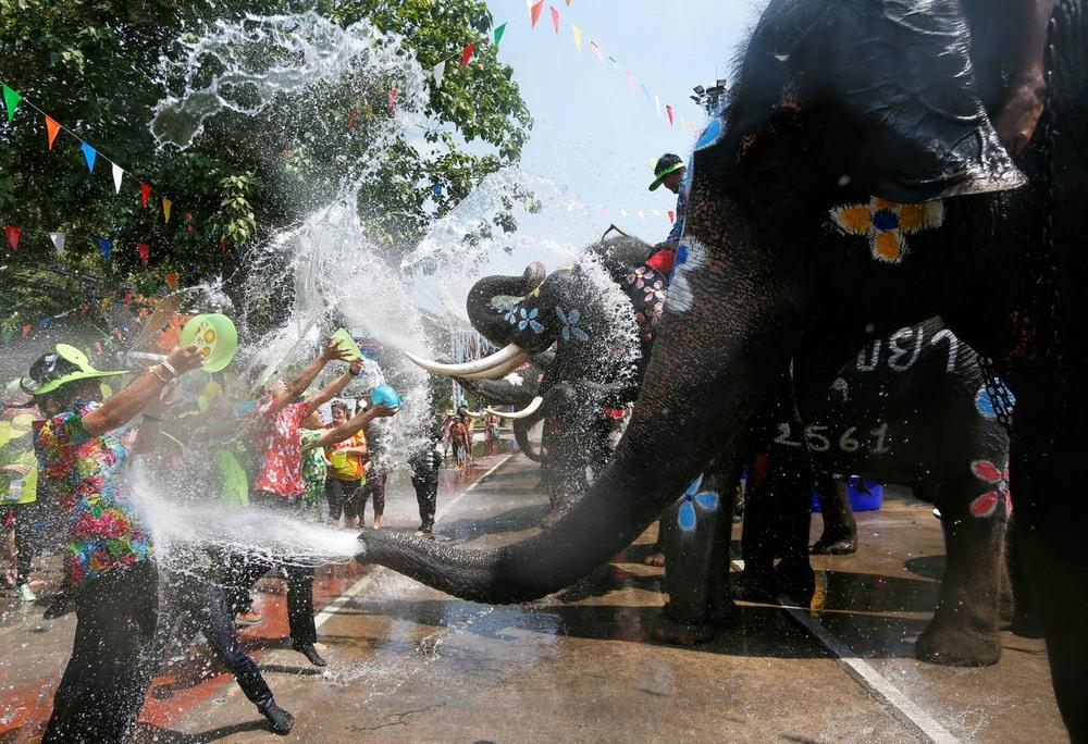 Предновогодний фестиваль воды в Таиланде