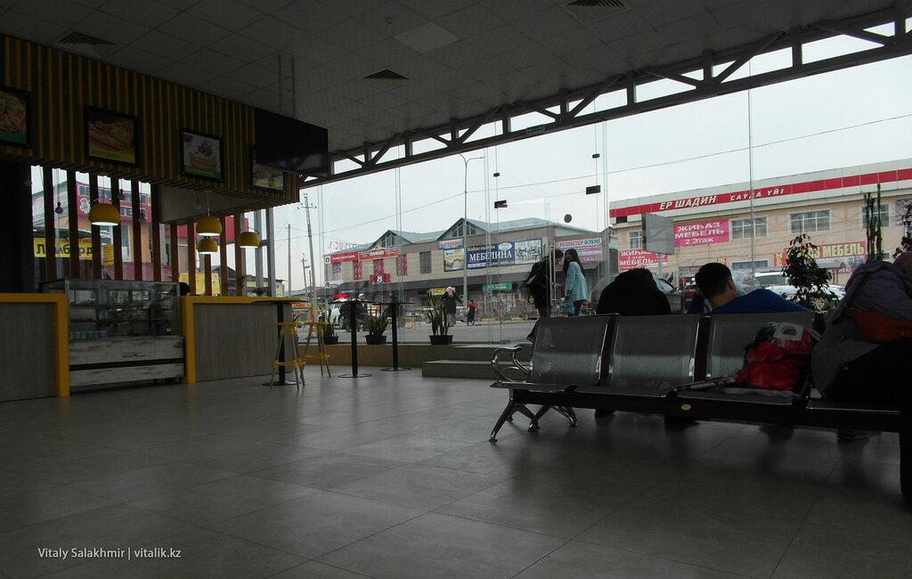 Зал ожидания автовокзала Самал в Шымкенте
