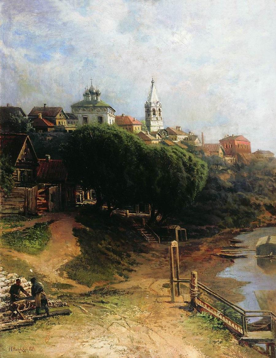 Вид города. 1884 Холст, масло. 79 x 60 см  Томский областной художественный музей