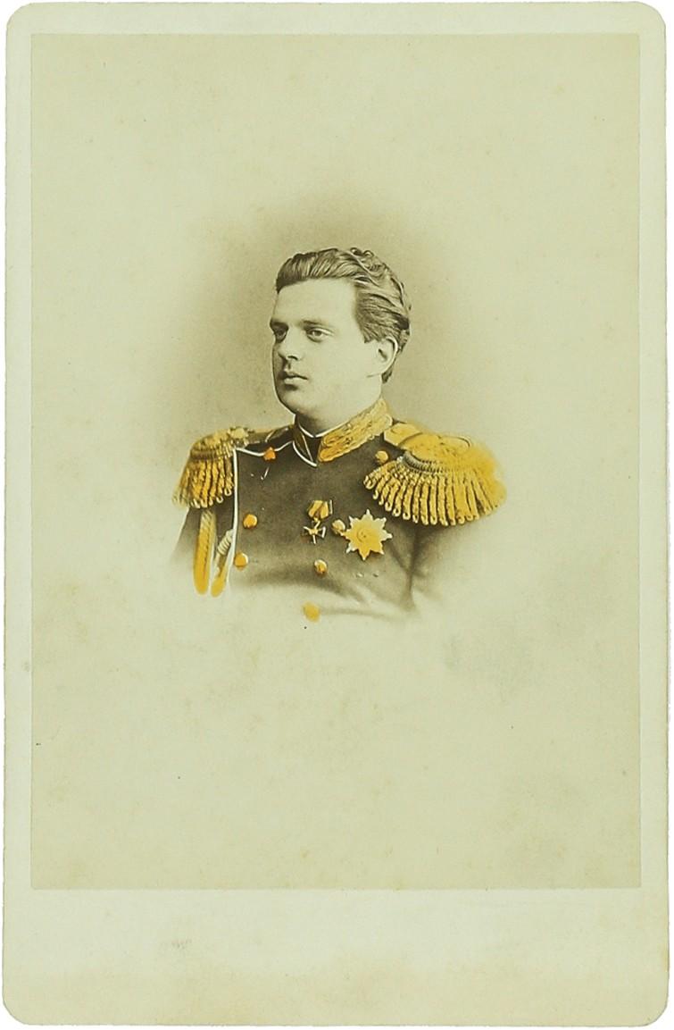 Фото генерал-адъютанта Свиты Его Императорского величества, генерал-майора Лейб-Гвардии Саперного батальона Великого Князя Владимира Александровича.