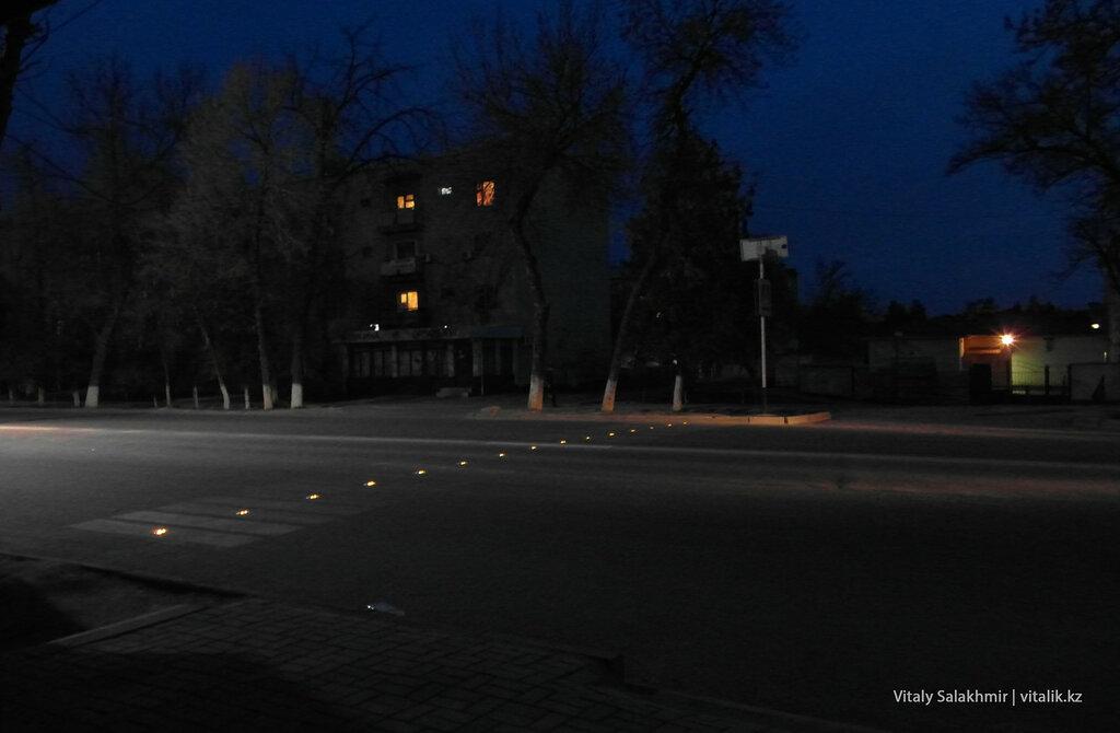 Подсветка пешеходного перехода Шымкент