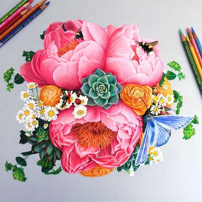 Os maravilhosos desenhos coloridos de Morgan Davidson