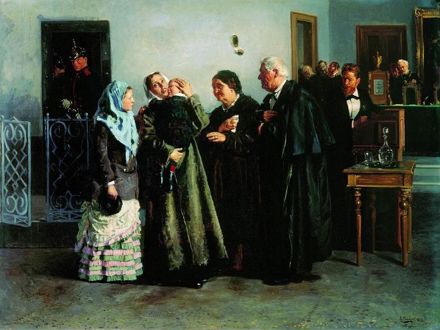 Оправданная. 1882 Государственная Третьяковская галерея, Москва.
