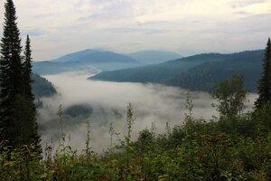 Утренний туман над долиной