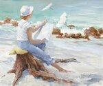 Женщина, рисующая побережье (Woman Sketching the Coast)_50.8 х 61_х.,м._Частное собрание.jpg