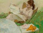 Девушка за чтением (Girl Reading)_40.6 х 50.8_холст на оргалите, масло_Частное собрание.jpg