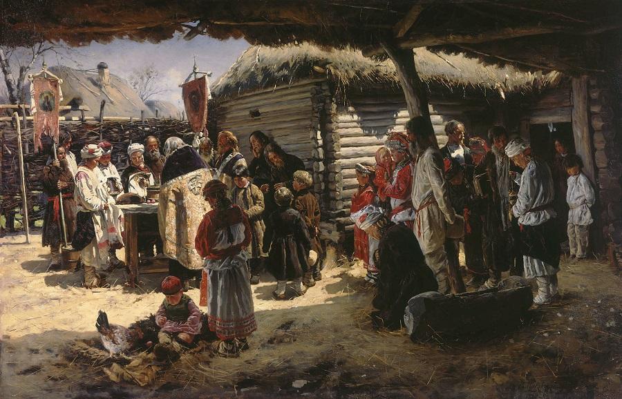 Молебен на Пасху. 1887-1888  Серпуховский историко-художественный музей, Московская обл.