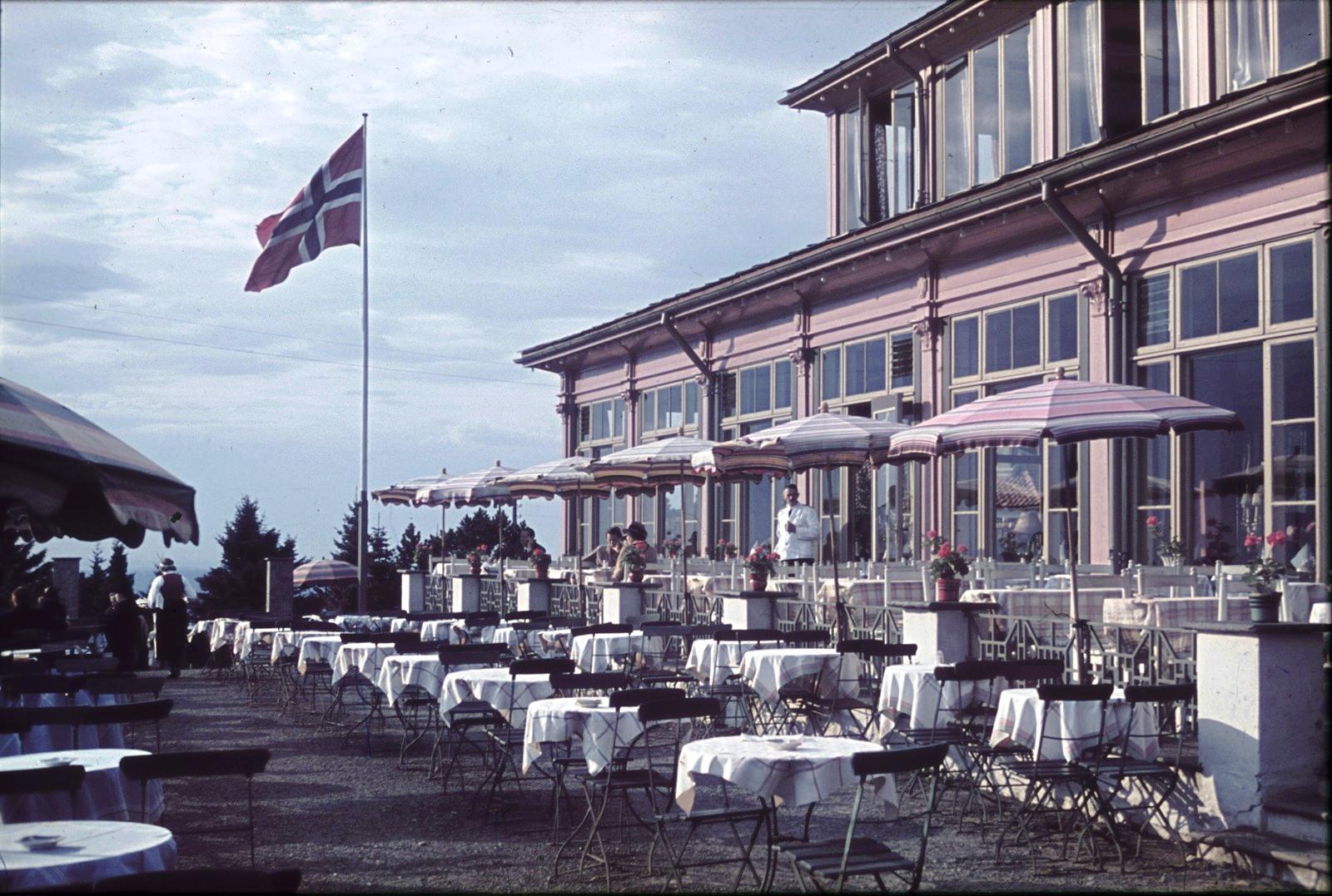 Осло. Ресторан в Хольменколлене