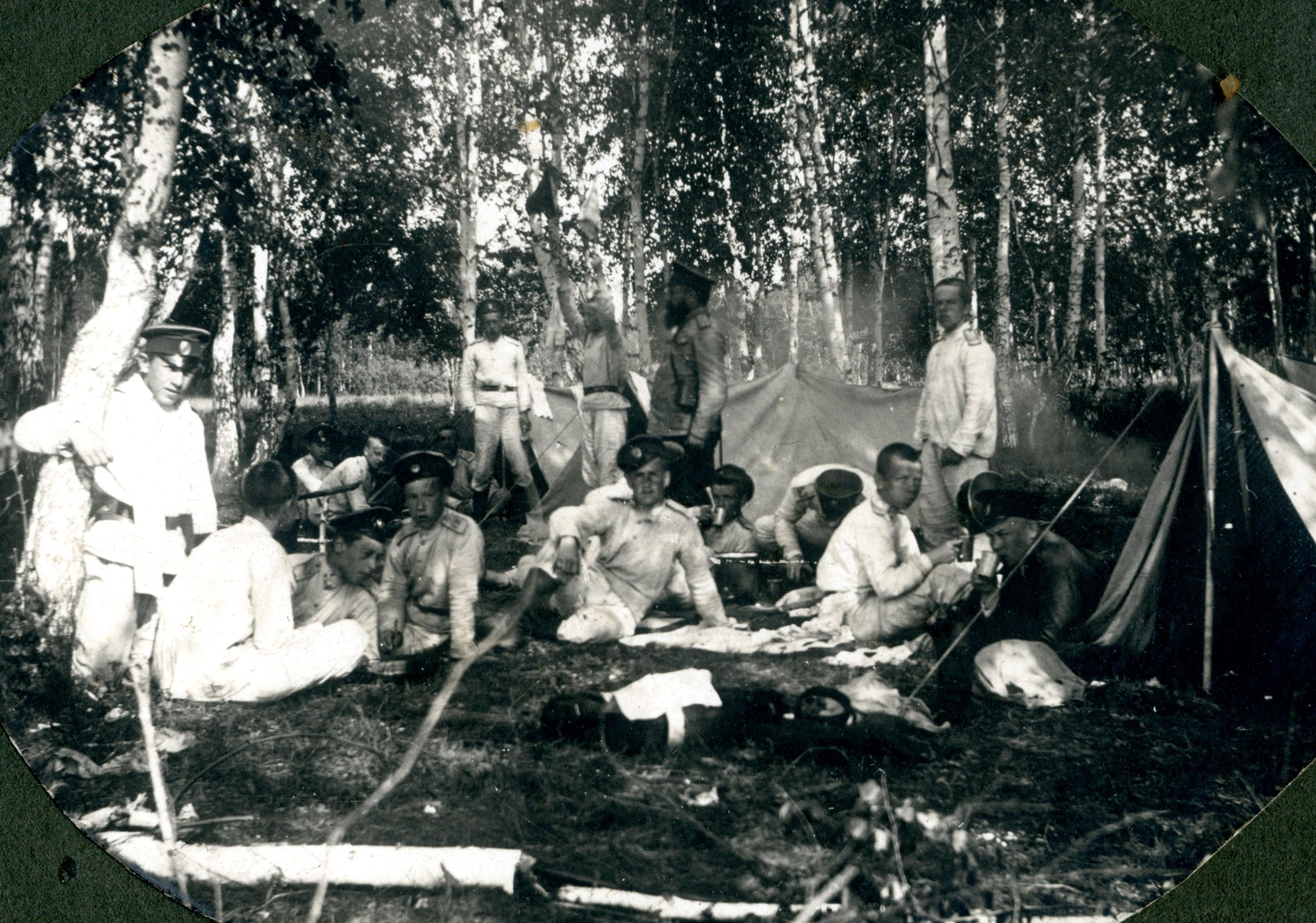 1901-1907. Полевой выход кадет Сибирского корпуса