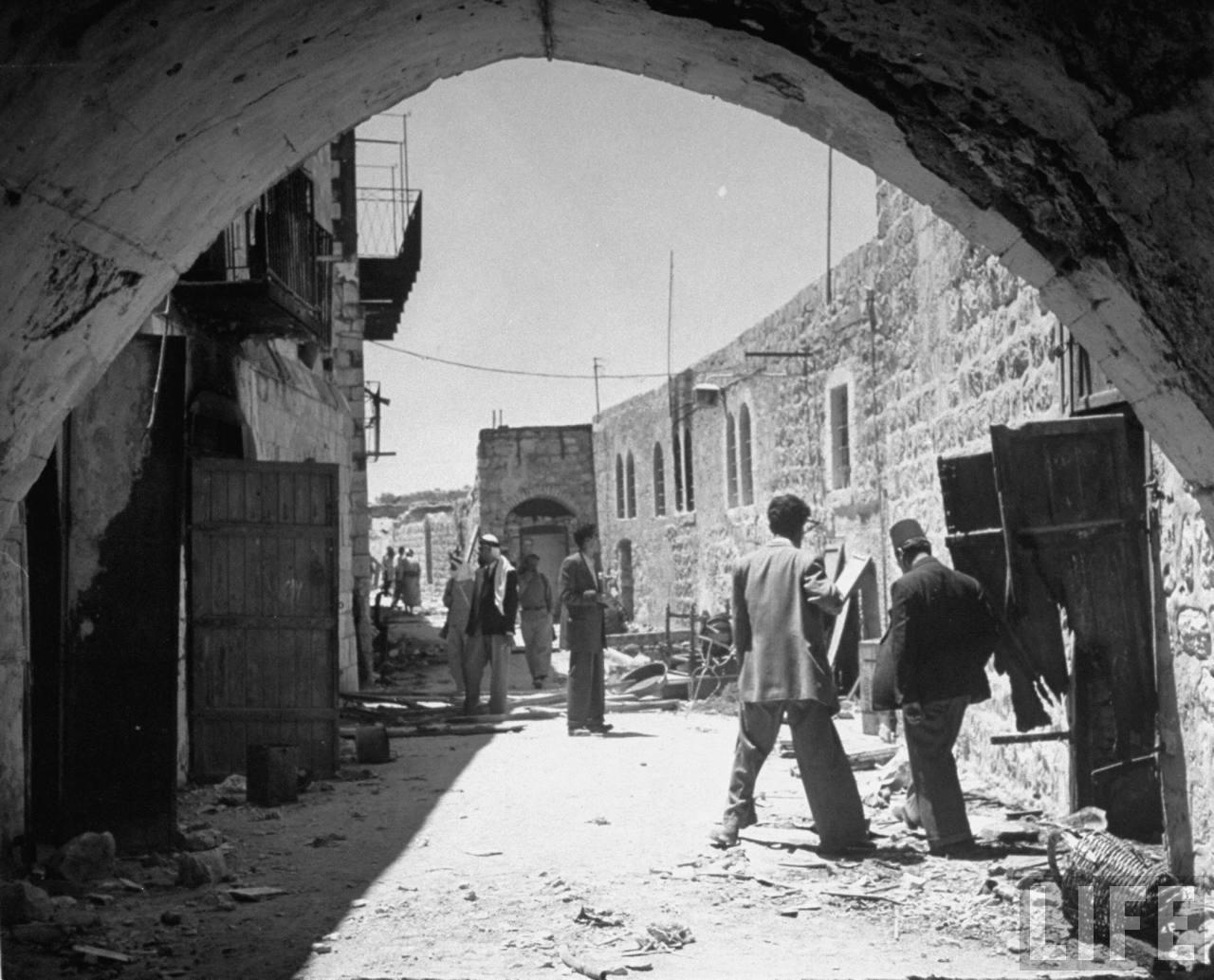 Еврейский квартал Иерусалима после бегства евреев. Июнь