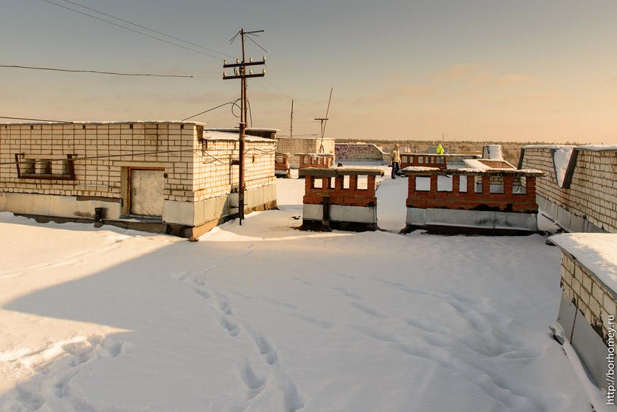 выход на крышу дома