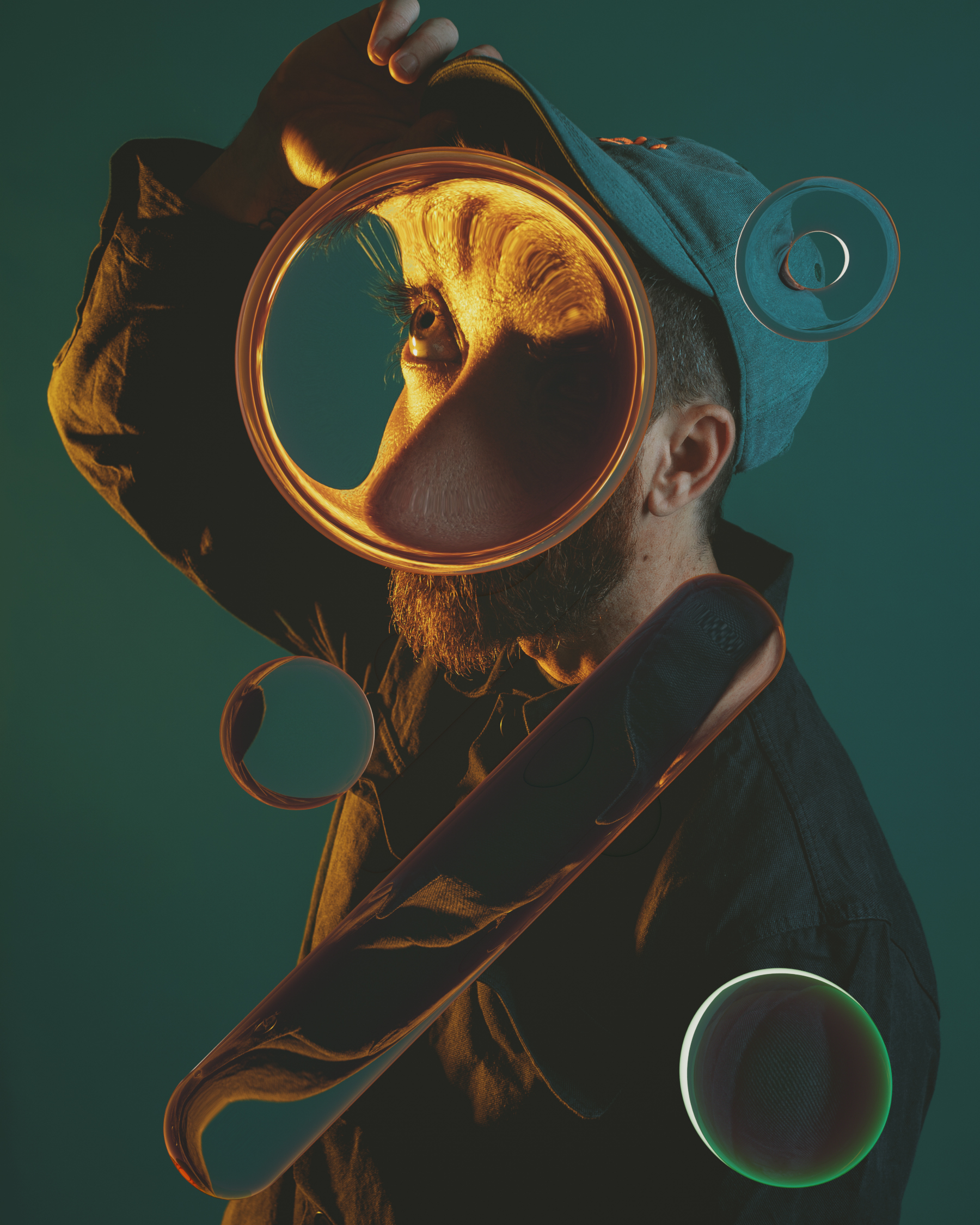 Fun Self-Portraits That Play with Lenses and Refraction
