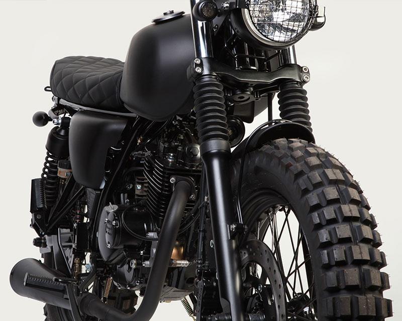 Самый черный мотоцикл Mutt Motorcycles Fat Sabbath 125