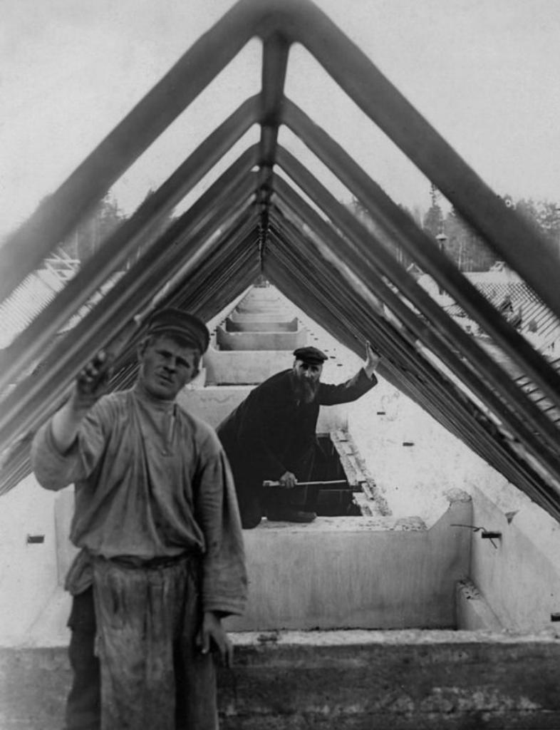 Строительство Ново-ткацкой фабрики и Глуховской электростанции в Богородске. 1907-1908 г.