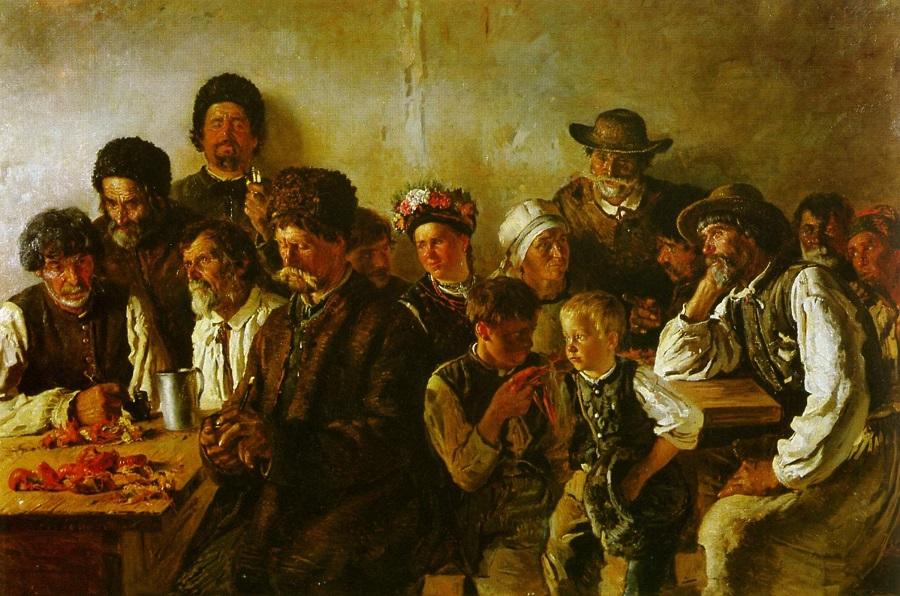 Крестьяне в корчме. 1882  Национальный музей изобразительного искусства, Кишинев, Молдова