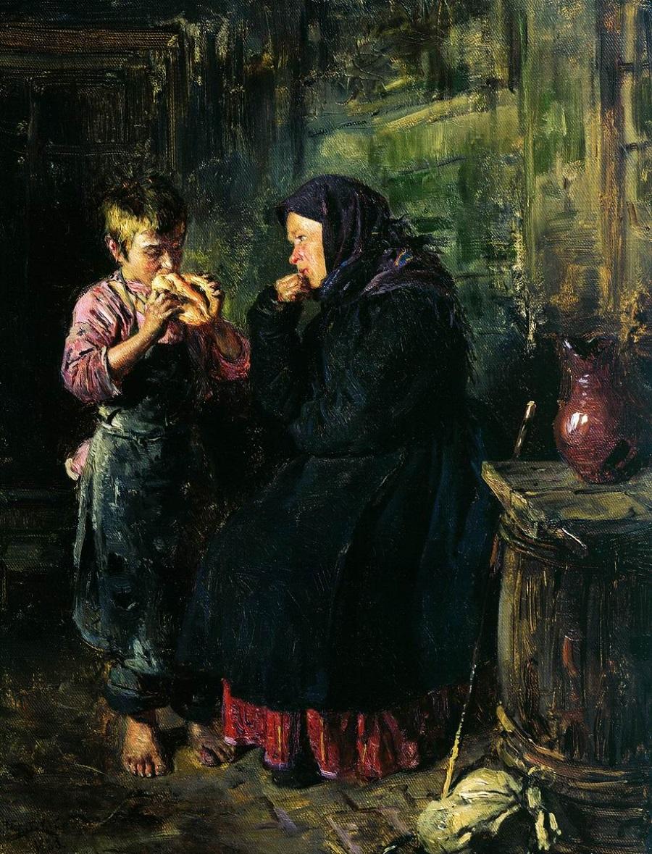 Свидание. 1883  Государственная Третьяковская галерея, Москва.