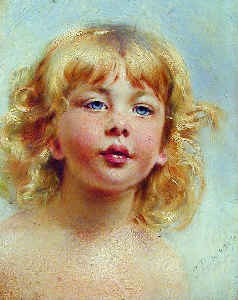 Портрет девочки (Детская головка). 1880-е.