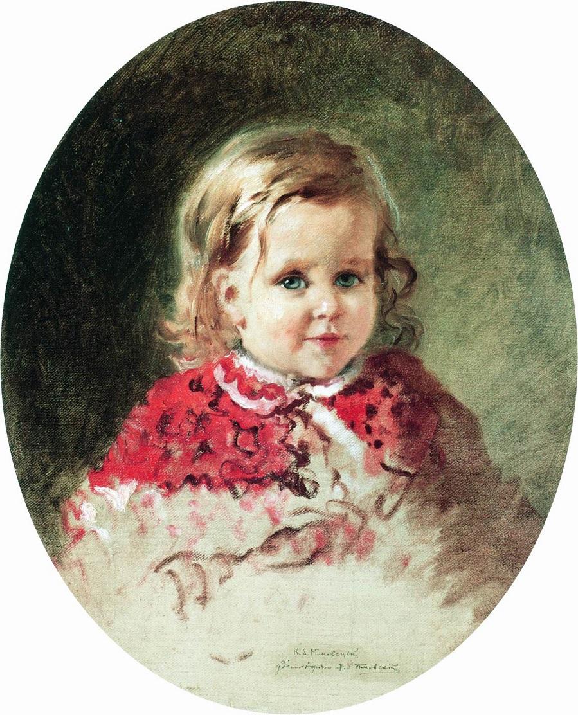 Портрет девочки Жени. 1860-е.