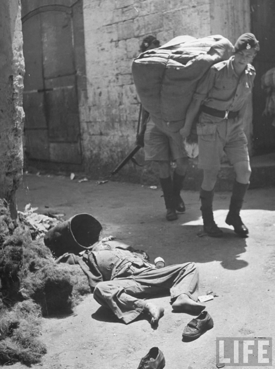 Мертвый 13-летний арабский мальчик на улице Хайфы. Апрель