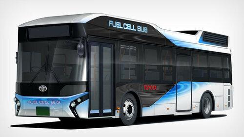 Toyota создает водородный автобус большой вместимости