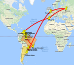 карта: Аргентина-Бразилия-Венесуэла