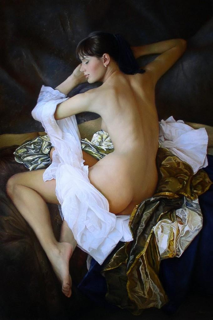 Удивительно реалистичные картины, воспевающие женскую красоту и очарование (8 фото)