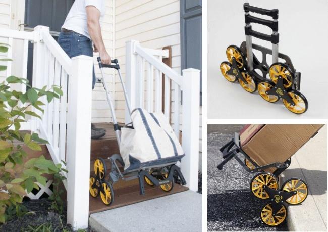 © upcart  Американские дизайнеры создали складную тележку, оснащенную системой строенных колес