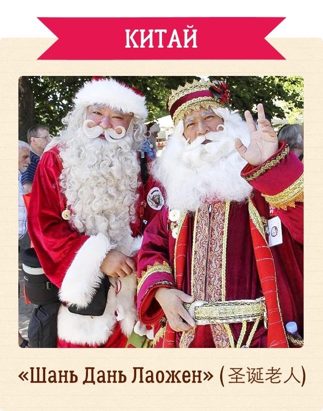 Как называют Деда Мороза вразных странах мира