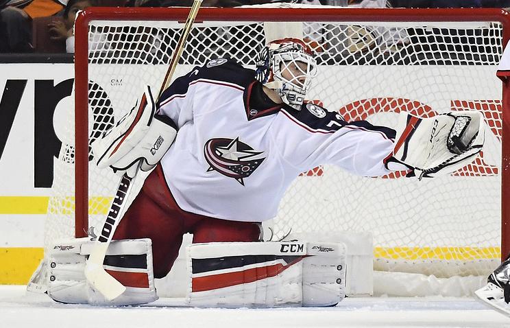 Бобровский признан первой звездой матча НХЛ «Детройт»— «Коламбус»