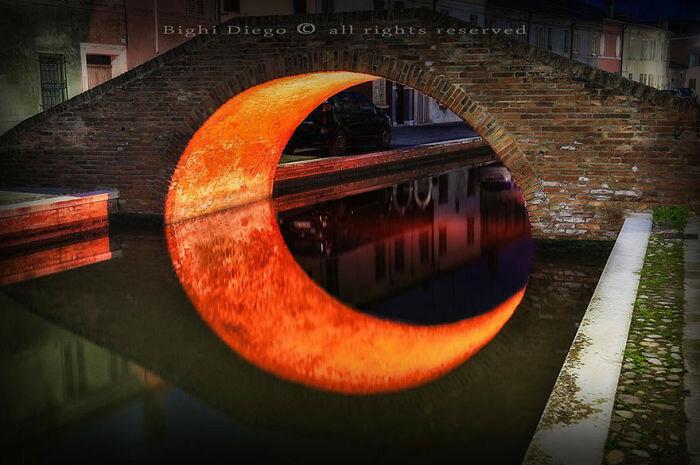 Отражение в виде Луны