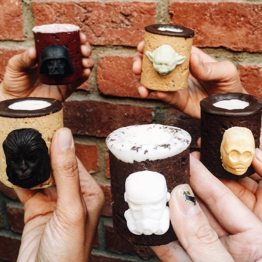 Pop Culture Characters Cookie Shots