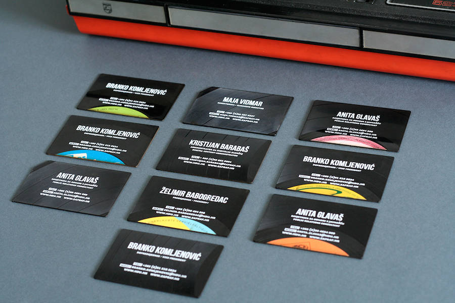 Phonographic Vinyls Business Cards