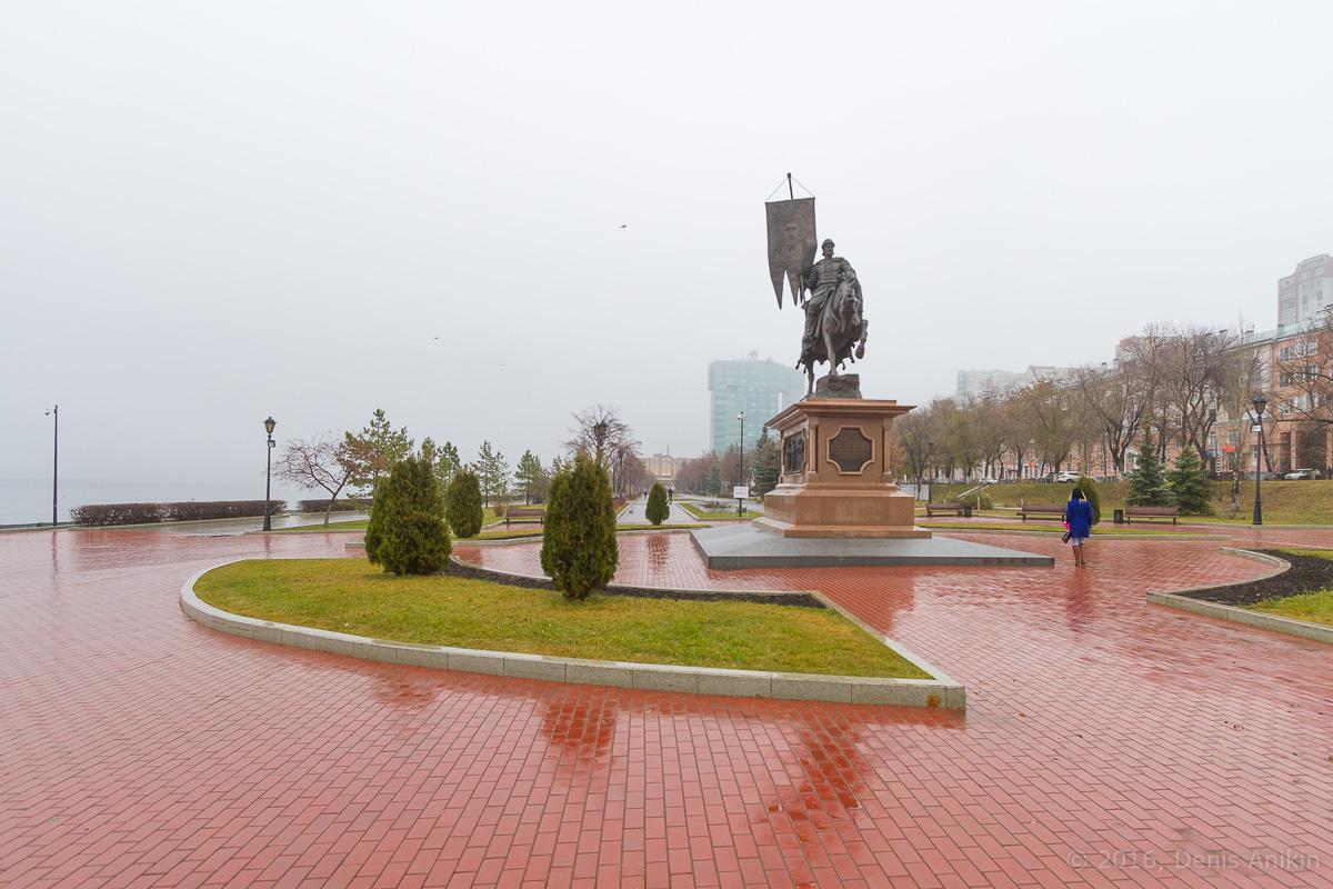 Самара набережная туман дождь фото 2