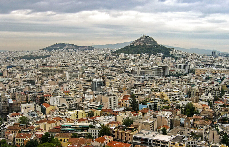 Афины с высоты Акрополя