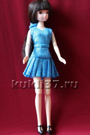 юбочка для Барби в складку