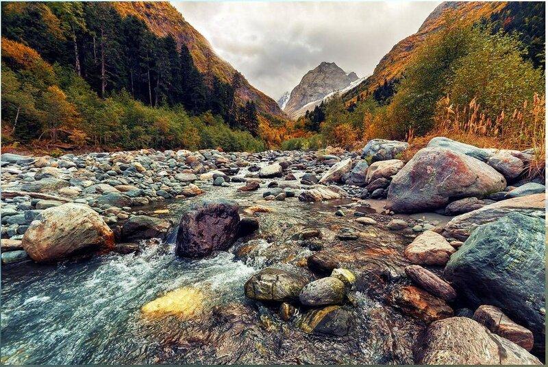 Река Аманауз. Домбай. Кавказ. .jpg