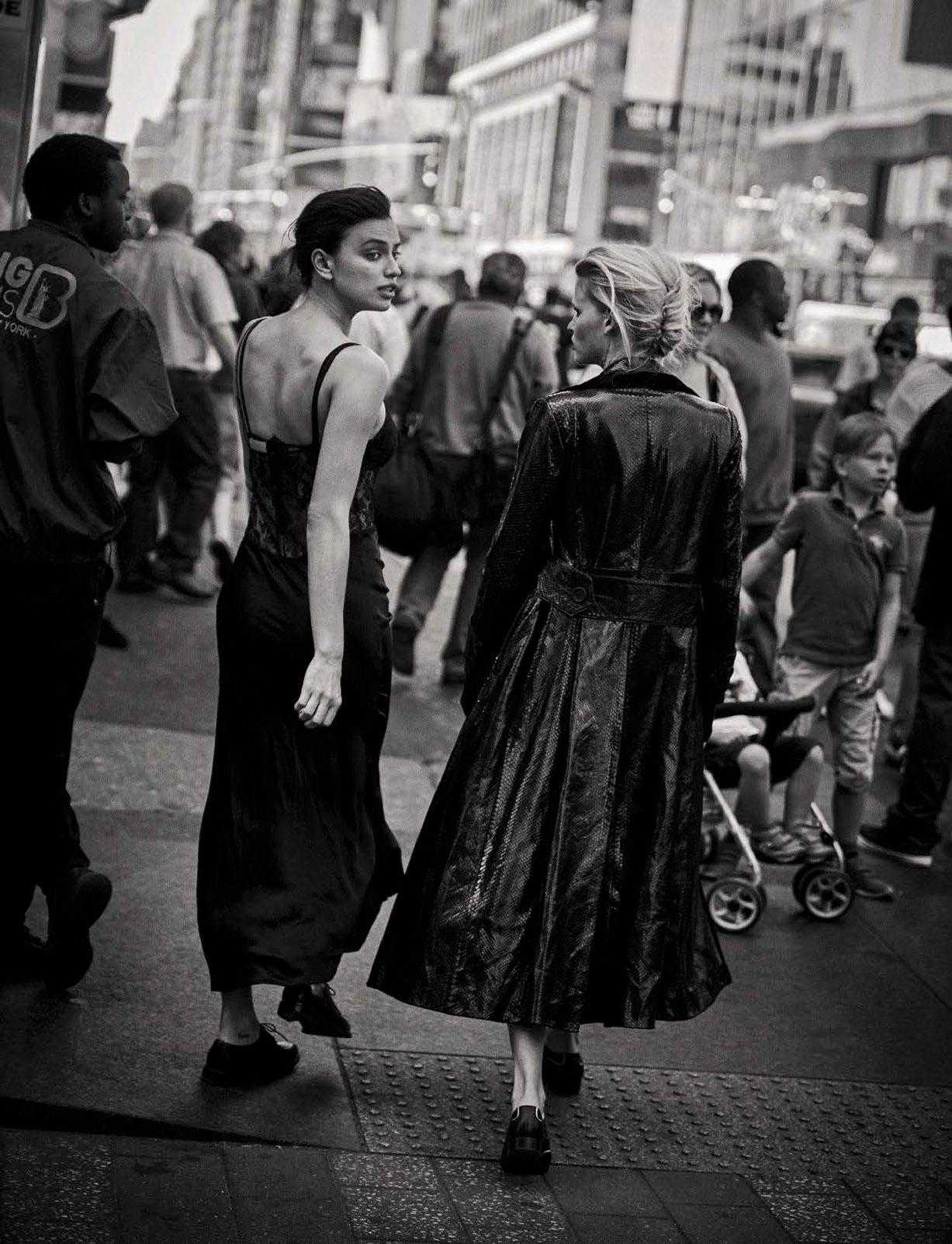 Irina Shayk, Lara Stone - Walking by Peter Lindbergh - Vogue Italia october 2016