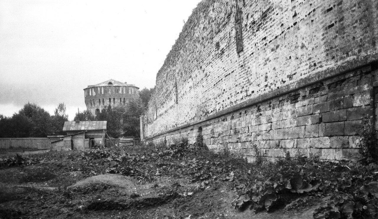 Громовая башня и крепостная стена. 1912