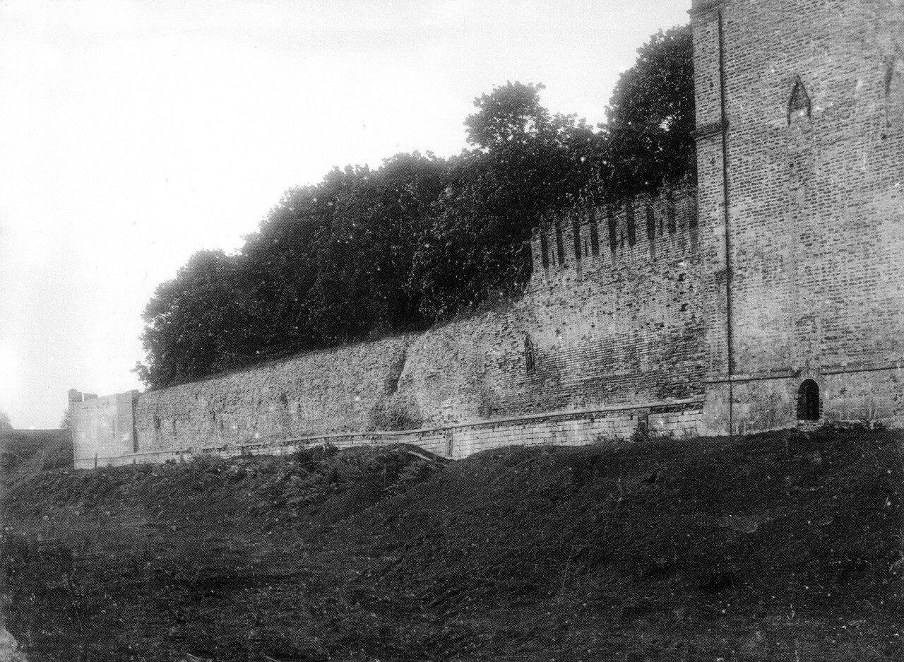 Копытецкая башня и крепостная стена у Королевского бастиона. 1912