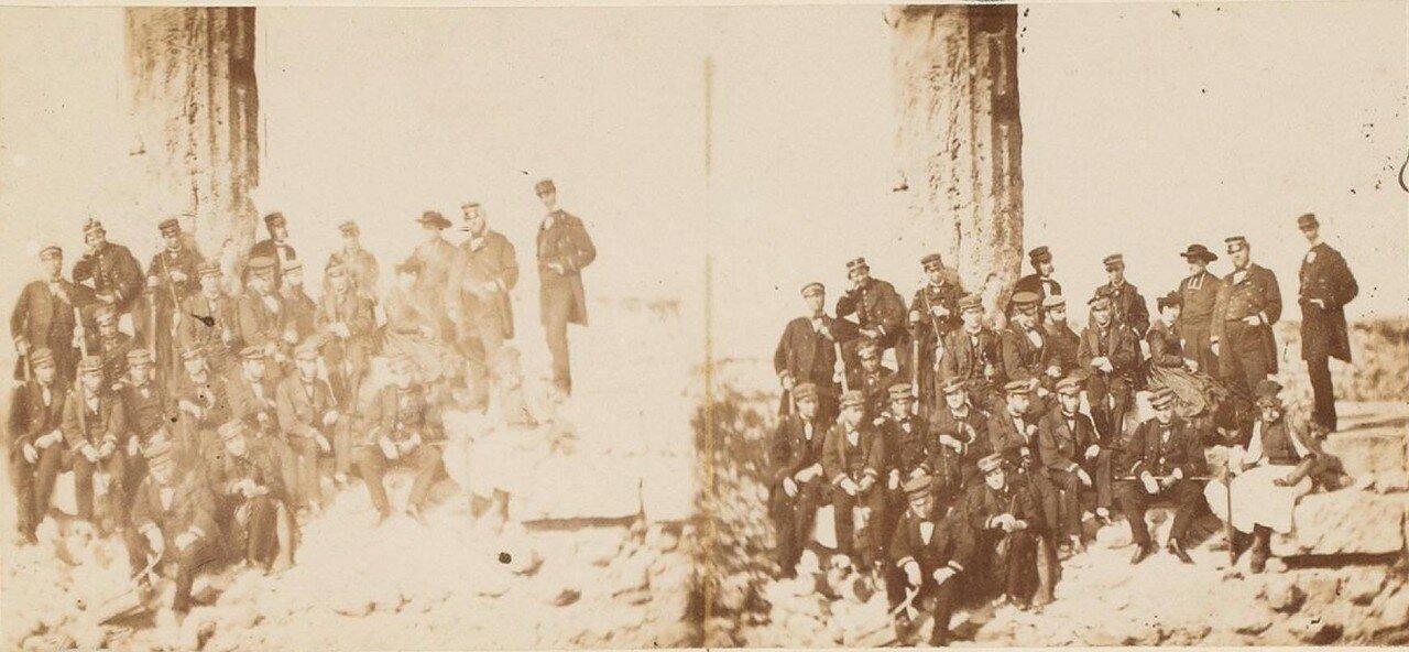 Экипажи «Мага» и «Стража» в храме Цереры, Пелопоннес