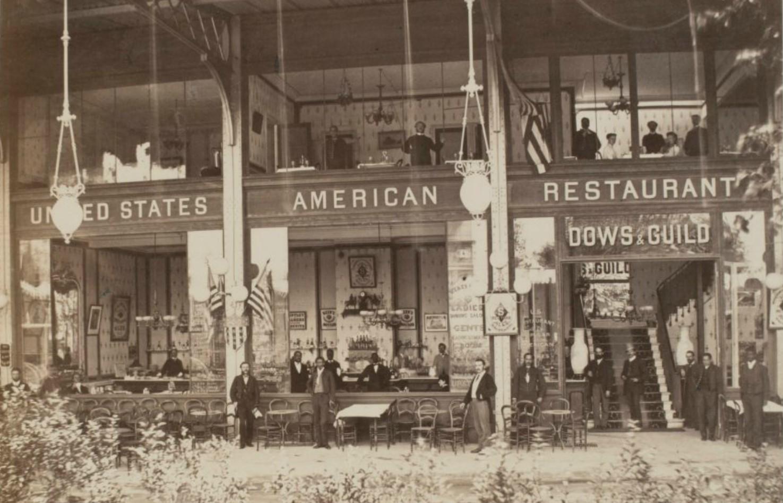 39. Американские рестораны на внешней стороне Главного павильона