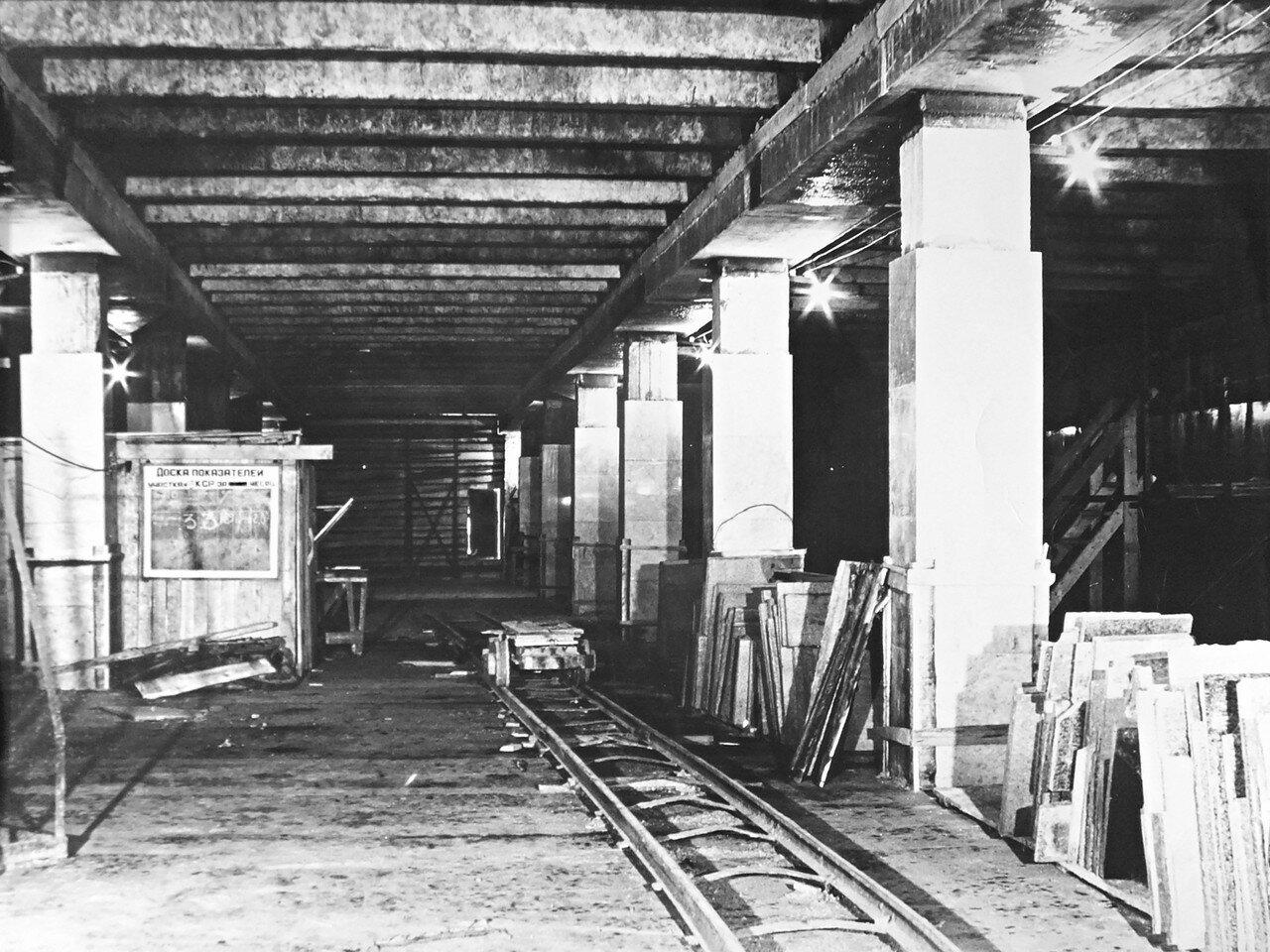 1978. Строительство станции метро Новогиреево