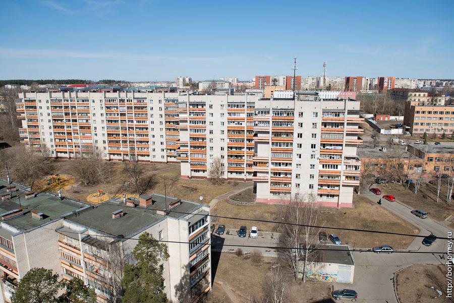 оранжевые балконы
